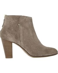 Dune Black | Pharah Suede Back Zip Heeled Ankle Boots | Lyst