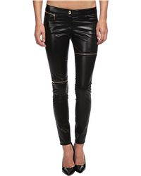 Love Moschino Stretch Legging with Zips - Lyst