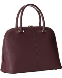 DKNY Saffiano Leather Round Satchel - Lyst