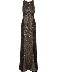 Badgley Mischka Cutout Sequined Tulle Gown - Lyst