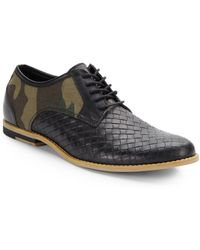 Joe's Woven Leather and Camo Laceups - Lyst