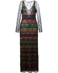 Missoni Zig Zag Crochet Sheer Dress - Lyst