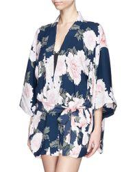 Fleur du Mal - 'haori Kimono' Silk Chiffon Robe - Lyst