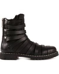Gareth Pugh Black Biker Boots - Lyst