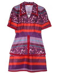 Suno Piped Layered Peplum Dress - Lyst