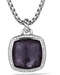 David Yurman Albion Pendant with Black Orchid with Diamonds - Lyst