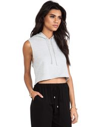 First Base - Cropped Sweat Hoodie - Lyst