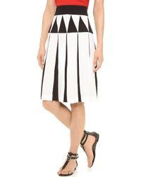 Giulietta - Pleated Skirt Ivoryblack - Lyst