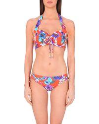Seafolly Field Trip Halterneck Bikini Top - For Women multicolor - Lyst