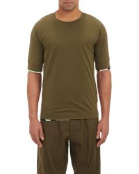 Y-3 Reversible T-Shirt green - Lyst