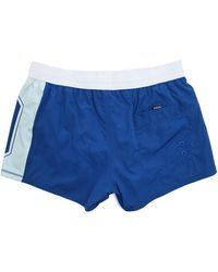Diesel Blue Coralrif College Print Swim Shorts blue - Lyst