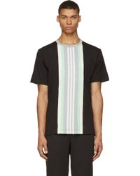 Y-3 Black And Heather Grey Band Short Sleeve T_Shirt - Lyst