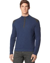 Calvin Klein Jeans Slub Colorblock Pullover - Lyst