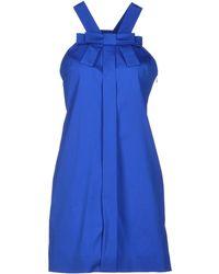 Viktor & Rolf Blue Short Dress - Lyst
