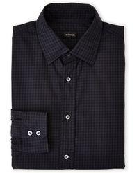 Jil Sander Steel Grey Gingham Dress Shirt - Lyst