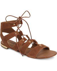 Carvela Kurt Geiger Suede Gladiator Sandals - For Women brown - Lyst
