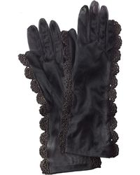 Simone Rocha Tulle Gloves With Crochet Trim - Lyst