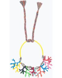 Zara Coral And Shell Necklace multicolor - Lyst