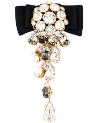 Dolce & Gabbana | Bow Crystal Drop Clip-on Earring | Lyst