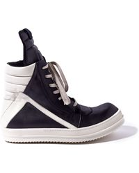 Rick Owens Mens Leather Geobaskets - Lyst
