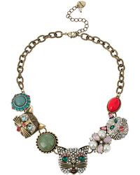 Betsey Johnson Cat Frontal Necklace - Lyst