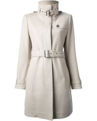Burberry Brit Belted Coat - Lyst