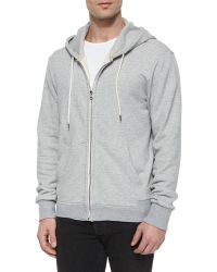 Rag & Bone Full-Zip Hooded Sweatshirt - Lyst