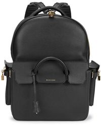 Buscemi - Phd Midsize Black Leather Backpack - Lyst