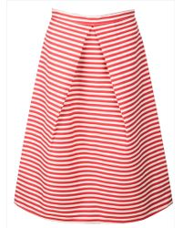 Kelly Love - Bright Skies Striped Midi Skirt-last One - Lyst