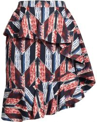 Matthew Williamson Graphic Patchwork Ruffle Skirt - Lyst