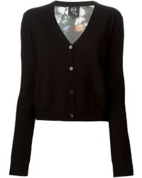 McQ by Alexander McQueen Floral Print Back Cardigan - Lyst