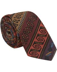 Paul Smith Red Folk Music Woolblend Tie - Lyst