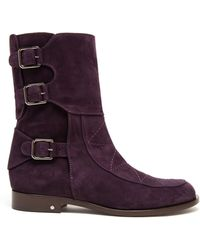 Laurence Dacade Rick Quilted Nubuck Ankle Boots - Lyst