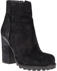 Sam Edelman Franklin Ankle Boot Black Suede - Lyst
