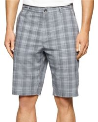 Calvin Klein | Patterned Cotton Shorts | Lyst