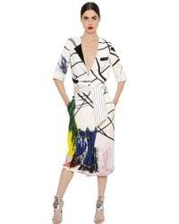 Daniele Carlotta - Printed Cady Shirt & Skirt - Lyst