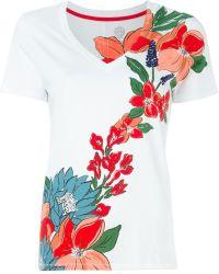 Tory Burch | Flower Print T-shirt | Lyst