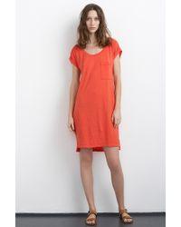 Velvet By Graham & Spencer Lanya T-Shirt Dress red - Lyst