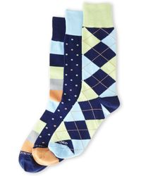 Unsimply Stitched - 3-Pack Printed Crew Socks - Lyst
