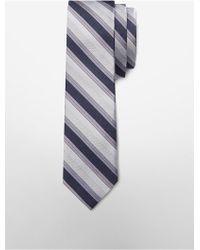CALVIN KLEIN 205W39NYC - White Label Slim Platinum Halo Stripe Tie - Lyst