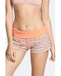 Reef | 'Summer Breeze' Crochet Swim Shorts | Lyst