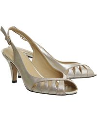 Office Willoughby Peep Toe Slingback - Lyst