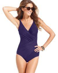 Miraclesuit Oceanus One-Piece Swimsuit - Lyst