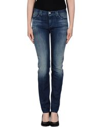 Armani Jeans Blue Denim Pants - Lyst