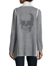 360cashmere | Long-sleeve Skull Cardigan Coat | Lyst