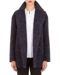 Jil Sander Compact Tweed Sweden Coat - Lyst