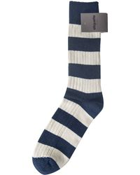 Etiquette Preppy Stripe Socks blue - Lyst