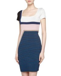 Catherine Malandrino Cora Abstractprint Stretch Dress - Lyst