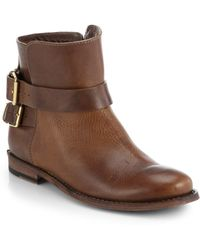 Burberry Kalina Flat Ankle Boots brown - Lyst