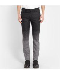 Neil Barrett Grey Slim-fit Dãgradã Wool-blend Suit Trousers - Lyst